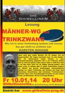 """Werbung der """"Ghibellinia"""" zur Veranstaltung mit Karsten Hohage"""