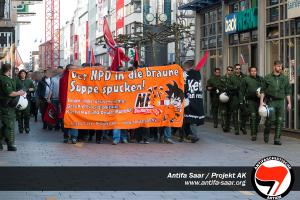 Demonstration in der Bahnhofstraße