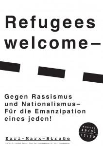Refugees welcome! - Gegen RAssismuns und Nationalismus