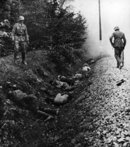 Verbrechen der Wehrmacht: Vom Infanterieregiment 15 (mot.) erschossene polnische Kriegsgefangene in Ciepielów (9. September 1939)