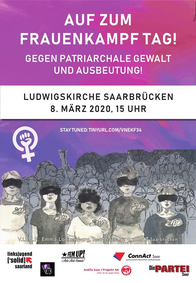 Plakat zur Demonstration